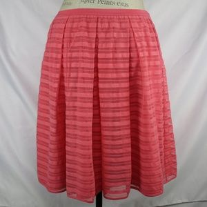 Anthropologie Maeve Coral Lace Skirt 8